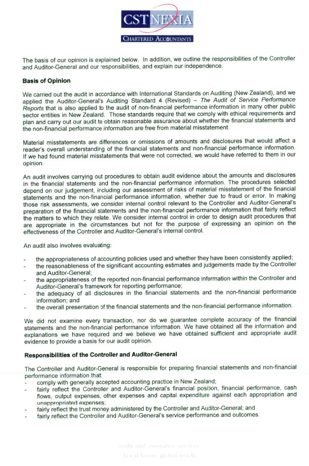 Page 2 of the Independent Auditor's report.