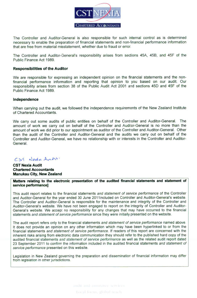 Page 3 of the Independent Auditor's report.