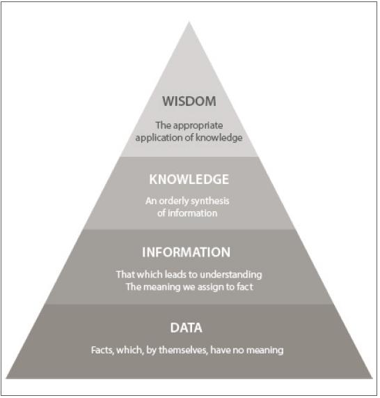 Figure 1 The data-information-knowledge-wisdom pyramid.