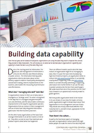 Building data capability