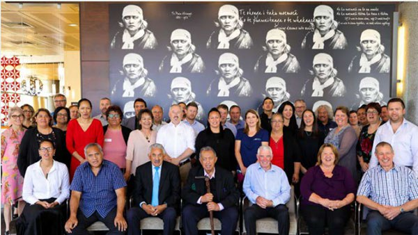 Staff and governance representatives who attended the hui in Hamilton on November 7