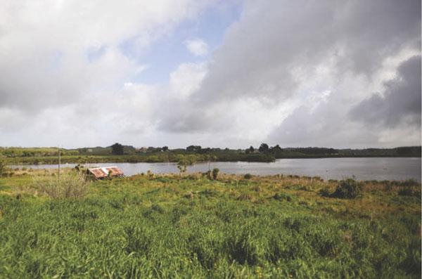 Photo of Lake Horowhenua.