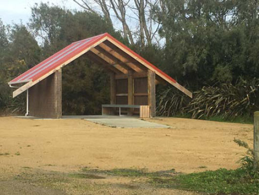 Photo of a whare constructed.