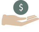 Hand and dollar sign image