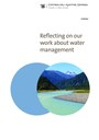 Cover of Reflecting on our work about water management