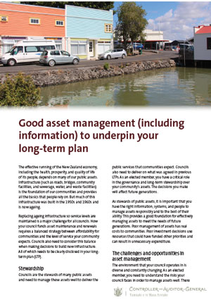 Good asset management (including information) to underpin your long-term plan