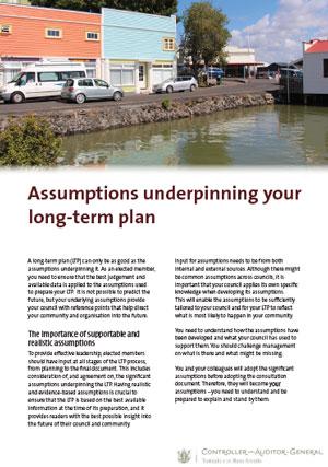 Assumptions underpinning your long-term plan