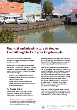 Financial and infrastructure strategies: The building blocks of your long-term plan