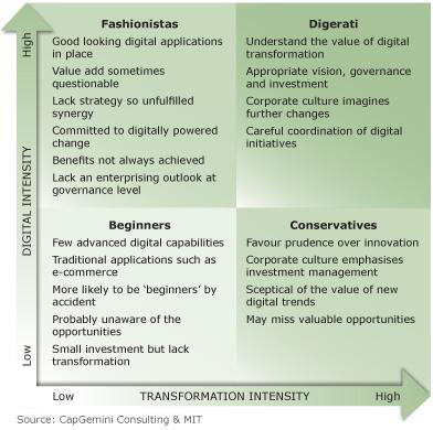 Digital maturity matrix
