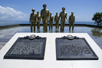 See http://www.tourisminthephilippines.com/city/Tacloban/leyte-landing-memorial/leyte-landing-memorial.php.