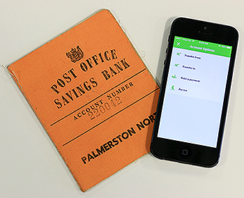 Post Bank book and cellphone