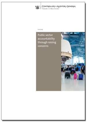 Public sector accountability through raising concerns
