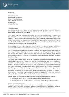 PDF of the letter from the Ministry